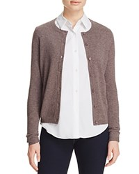Bloomingdale's C By Crewneck Cashmere Cardigan Heather Rye