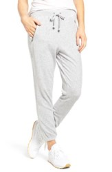 Juicy Couture Women's Silverlake Velour Track Pants Silver Lining