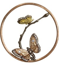 Annoushka Hoopla Butterfly Diamond 18Ct Rose Gold Pendant