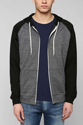 Bdg Raglan Zip Up Hooded Sweatshirt