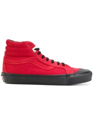 Alyx Hi Top Sneakers Cotton Leather Rubber Red