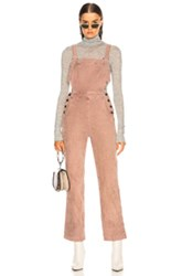 Ag Adriano Goldschmied Gwendolyn Overalls In Pink