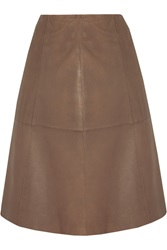 Muubaa Falda Leather Skirt Brown