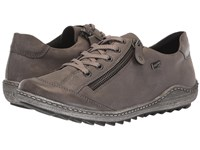 Rieker R1402 Liv 02 Fumo Mineral Lace Up Casual Shoes Gray