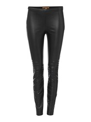 Hugo Boss Saledy Faux Leather Trousers Black