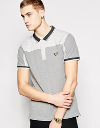 Voi Jeans Polo Shirt Contrast Sides Grey