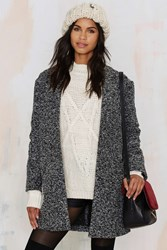 Nasty Gal Gray Space Marled Coat