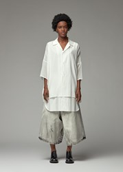 Yohji Yamamoto Y's By 'S Double Layer Short Sleeve Shirt In White Size 2