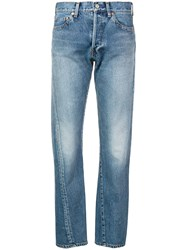 Balenciaga New Twisted Leg Denim Jeans Blue