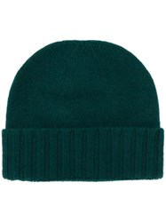 Pringle Of Scotland Ribbed Scottish Hat Green
