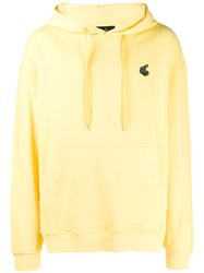 Vivienne Westwood Anglomania Embroidered Badge Hoodie Yellow