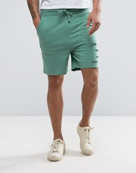 Another Influence Distressed Jersey Shorts Green