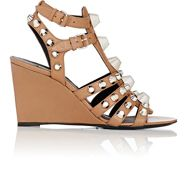 Balenciaga Women's Arena Gladiator Wedge Sandals Colorless