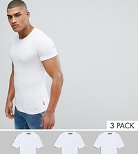 French Connection Tall 3 Pack Lounge T Shirt White