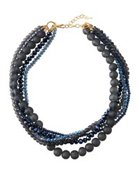 Emily And Ashley Midnight Blue Five Row Necklace