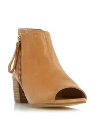Dune Joselyn Leather Booties Tan