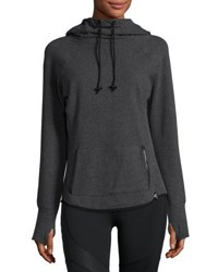 Marc New York Hooded Cowl Neck Raglan Sweatshirt Charcoal H