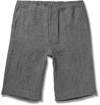 Our Legacy Heathered Linen Shorts Gray