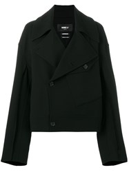 Yang Li Double Breasted Fitted Jacket Black