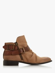 Bertie Ported Ankle Boots Stone Nubuck