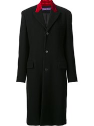 Ralph Lauren Contrast Detail Coat Black