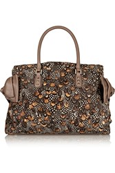 Valentino Feather Print Calf Hair Tote