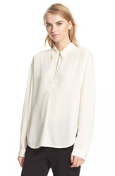 Brochu Walker 'Sidney' Crepe De Chine Blouse Winter White