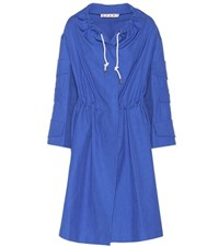 Marni Cotton Blend Coat Blue