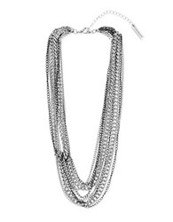 Steve Madden Knotted Chain Necklace Silver