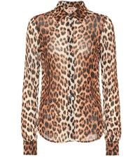 N 21 Leopard Printed Shirt Brown