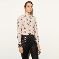 Coach Printed Piped Blouse Shell