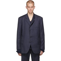 Vetements Navy Cut Out Blazer