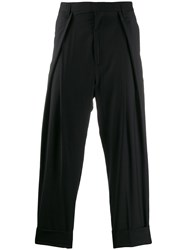 Ann Demeulemeester Pleated Detail Tapered Trousers Black