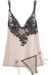 La Perla Privilege Lace And Stretch Tulle Camisole And Briefs Set