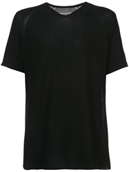 Label Under Construction Short Sleeved T Shirt Black