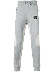 Philipp Plein Slim Fit Sweatpants Men Cotton Xl Grey