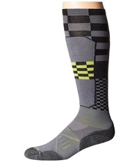Smartwool Phd Ski Light Elite Pattern Graphite Men's Crew Cut Socks Shoes Gray