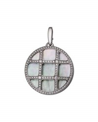 Cartier Estate Pasha 18K Mother Of Pearl And Diamond Pendant Enhancer
