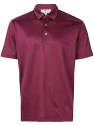 Canali Slim Fit Polo Shirt Red