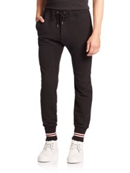 The Kooples Cuffed Sweatpants Black