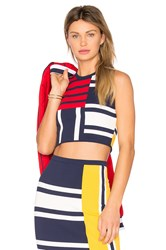 Tommy Hilfiger X Gigi Patchwork Top Navy