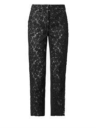 Erdem Gianna Heavy Lace And Silk Trousers