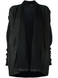 Isabel Benenato Shawl Collar Panelled Jacket Black