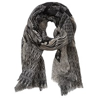Betty Barclay And Co. Long Graphic Print Scarf Taupe Black