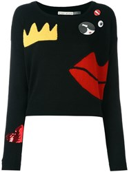 Alice Olivia Chest Pin Jumper Black