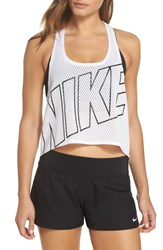 Nike Mesh Crop Top Cover Up White