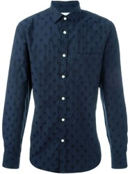 Hope Dot Print Shirt Blue