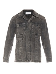 Tomas Maier Faded Cotton Blend Jacket