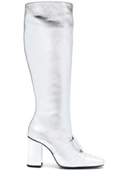 Dorateymur Knee Length Boots Metallic