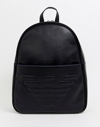 755c987fe345 Emporio Armani Embossed Large Eagle Backpack In Black